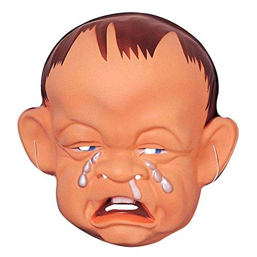 Baby Maske weinend Traurige Babymaske Hartplastik Charakter Gesicht Bockiges Kind Faschingsmaske Plastikmaske Karnevalsmaske