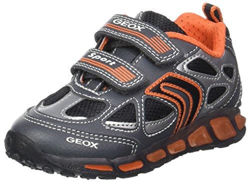 Geox J Shuttle a, Zapatillas Para Niños, Gris (Grey/Orange), 36 EU