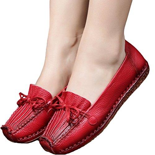 Vogstyle Donna Nuove Scarpe Casuale In Pelle A Mano Della Primavera/Estate/Autunno Rosso