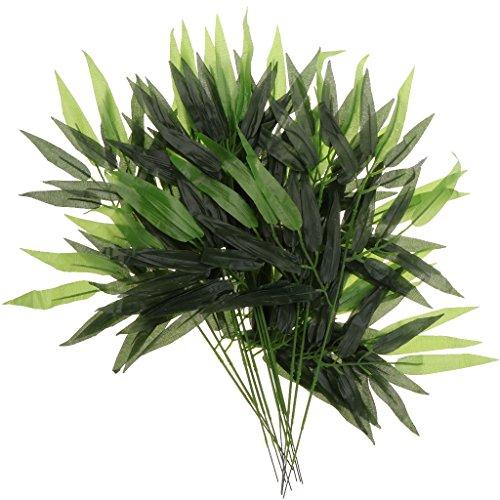 12x Kuenstliche Bambus Ivy Pflanze Busch Plastiklaubgirlande Home Decor 60cm