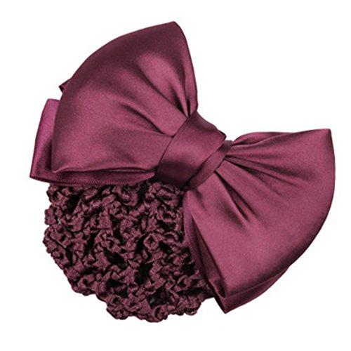 3pcs Bow Tie barette cheveux clip Snood Net coiffure pour les femmes, R