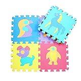 Balai Spielmatte Kinder Puzzle-Matte Spielteppich Eva Schaumstoff-Teppich Kinderteppich Spielmatte Lernteppich 10 tlg