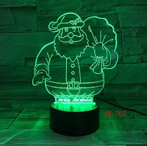 APP-Steuerung Weihnachtsgeschenk 3D Illusion Lampe Schneemann Mit Mantel Design Led Nachtlicht Für Kinder Wohnzimmer Lichter Tischlampe