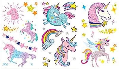 Glitter Tattoo Stickers / Temporary Tattoos Unicorn