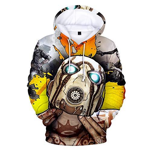 cilyberya Borderlands 3 Unisex 3D Sweatshirts Pocket Hoodie Rundkragen mit Kapuze 3 Pullover Hoodies