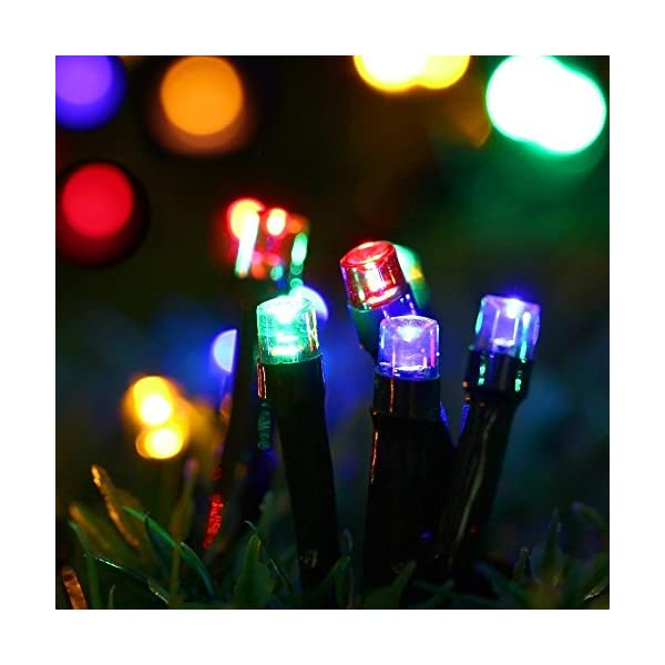 Magiclux Tech 300 LED Solar String Lights, Waterproof Outdoor Fairy Lighting for Christmas, Home, Garden, Tree, Party, Holiday Decoration - Multicolour, 38ft, 8-in-1 Mode (300 Solar Color Lights) 2
