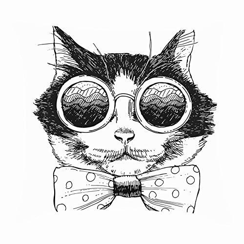 dfgi Image cat Portrait Sunglasses tie Animals Wildlife Animal Throw Pillow Covers Cotton Linen Cushion Cover Cases Pillowcases Sofa Home Decor 18