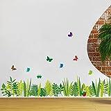 Winhappyhome Schmetterlinge Rasen UmsäUmen Linie Wand Aufkleber FüR Wohnzimmer Flur Balkon Hintergrund Entfernbare Dekor Abziehbilder