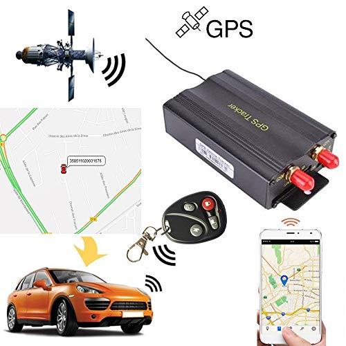 MUXAN GPS Tracker GSM GPRS GPS Localisateur antivol Surveillance positionnement Alarme d'urgence en Temps réel Traceur gps pour Voiture véhicule TK103B