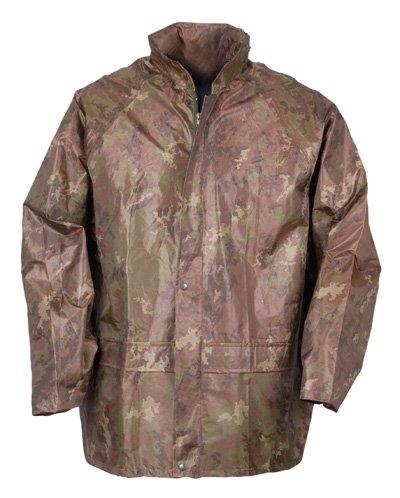 Mil-Tec Regenkombi Jacke und Hose Regenkombi Regenjacke Regenhose Nässeschutz Vegetato Woodland (XL)