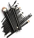 Makeupaccâ ® 20 pezzi-Set Pro Beauty polvere Foundation ombretti e Eyeliner trucchi e pennelli, 20 pezzi, colore: nero