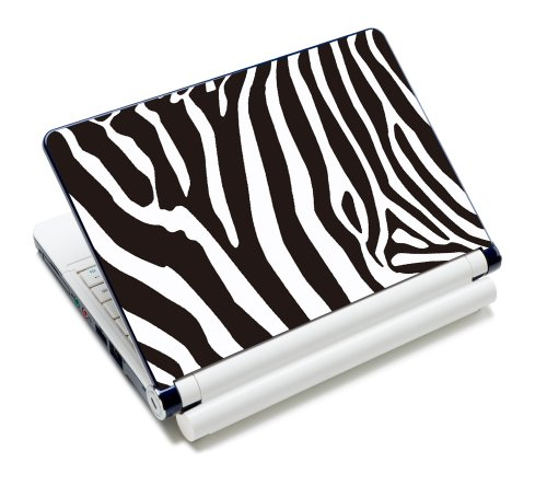 Luxburg® Design Aufkleber Schutzfolie Skin Sticker für Notebook Laptop 10 / 12 / 13 / 14 / 15 Zoll, Motiv: Zebra
