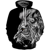 SAINDERMIRA Unisex Fashion 3D Digital Galaxy Pullover Hooded Hoodie Sweatshirt Athletic Casual With Pockets