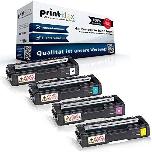 4x Kompatible Toner für Ricoh Aficio SPC231n Aficio SPC231sf Aficio SPC232dn 406479...