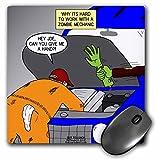 3drose Zombie Auto Mechaniker Praktische Witze–Maus Pad, 8von 20,3cm (MP _ 164031_ 1)