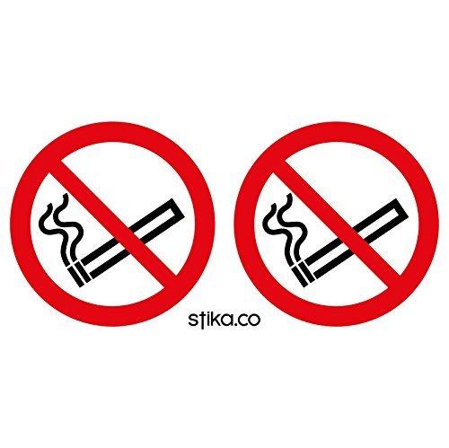 Clara no fumar pegatinas/etiquetas–paquete de 24(Clear vinilo autoadhesivo/75de diámetro)