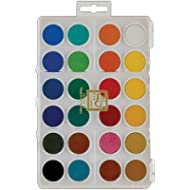 Loew-Cornell Dry Pan Watercolor Paint Cakes 24 pezzi, colori assortiti