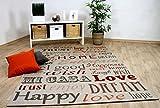 In & Outdoor Teppich Flachgewebe Carpetto Beige HOME in 3 Größen