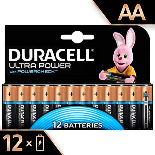 Duracell Batterie Alcaline Ultra Power AA, Confezione da 12, il Design della Confezione Potrebbe Cambiare