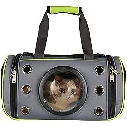 PUAO - Bolso de Mano para Mascotas, portátil, Suave, Parte Superior y Lateral de Carga, Plegable, para Mascotas, para Gatos y Perros pequeños