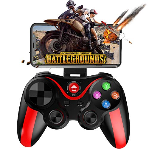 HWZDQLK Mobiler Gamepad Controller, Key Mapping Gaming Joysticks Auslöser for PUBG/Rules of Survival & More Schießsport Rennspiel, for 4-6 Zoll Android iOS Phone - Direct Play (Color : Red) (Iphone 5s Wwe)