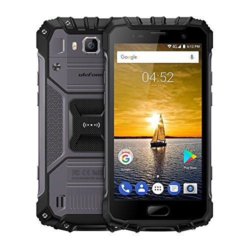Ulefone Armor 2 - 5.0 pollici FHD IP68 impermeabile 4G Android 7.0 smartphone, Helio P25 Octa Core 2.6GHz 6GB RAM 64GB ROM, 13MP + 16MP fotocamera NFC GPS Dual SIM, Dual band WIFI, 4700mAh carica veloce (Dark Grey)