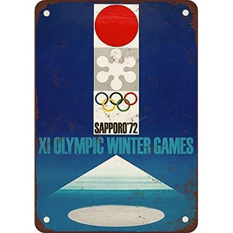 Olimpiadi invernali 1972Sapporo Giappone stile Vintage riproduzione in metallo Tin