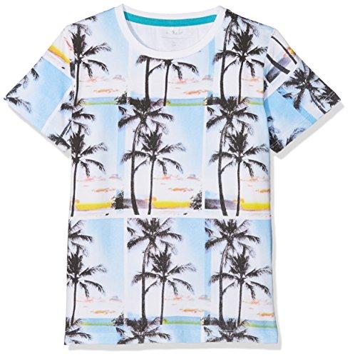 NAME IT Baby-Jungen T-Shirt NMMDEFFO SS TOP Box Mehrfarbig (Lake Blue) 104