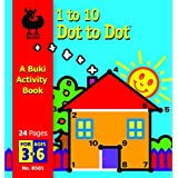 1 to 10 Dot to Dot Buki Activity Book Boat by Buki