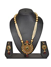 Sadnya Peacock Necklace Set With Earring For Jewellery Necklace Earring Set - PRNK134