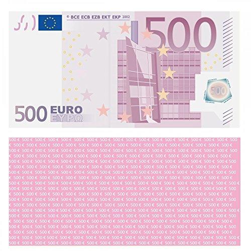 100 Stück Premium 500 Euro Spielgeld Format 119 x 60 mm Geld Banknoten Geldschein Money EUR Größe entspricht 75{90e780fe6c4524ef7f8ae90555e65beb205635b76029492b035ccc52d1a30b89} des Originals der Eurobanknoten Deutschlands