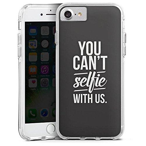 Apple iPhone 6s Bumper Hülle Bumper Case Glitzer Hülle Sprüche Phrases Sayings Bumper Case transparent