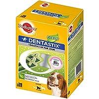 Pedigree DentaStix Fresh Hundeleckerli für mittelgroße Hunde, Kausnack gegen Zahnsteinbildung, Für gesunde Zähne und einen frischen Atem, 4er Pack (4x 28 Sticks =2,88 Kg)