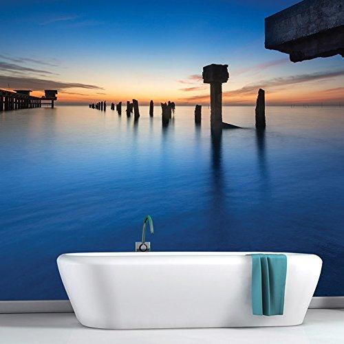 Sfondo Alba Sopra Thai Bay Ocean Pier marino da parati Nature Photo disponibile in 8 taglie Extra-Small Digitale