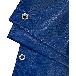 GardenMate 3x4m 90g/m2 Lona impermeable de protección universal azul/verde - Funda protectora - Malla geotextil