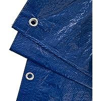 GardenMate 4x5m 90g/m2 Lona impermeable de protección universal azul/verde - Funda protectora - Malla geotextil