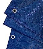 GardenMate 2m x 3m Telone in tessuto UNIVERSAL 90g/m2 Blu/Verde - Telone di copertura - Telone di protezione - Telone per barche