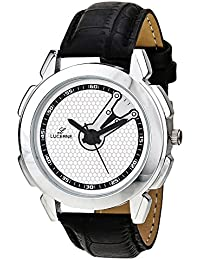 LUCERNE Analog White Designer Dial Black Leather Strap Gifts Watch For Men A Modern Men Watch Gifts For Friends
