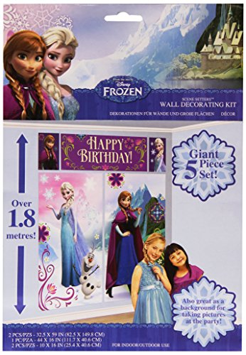 Frozen - Decoración de pared, para felicitar cumpleaños (Amscan International 999262)