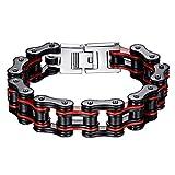 BOBIJOO Jewelry - Grand Gros Bracelet Biker Homme Chaine de Moto Acier Inoxydable...