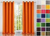 Rollmayer modern Vorhang (Orange 6) Schal mit Ösen 140x250 cm lichtundurchlässig Gardine, Ösenvorhang Ösenschal für Kinderzimmer, Jugendzimmer, Schlafzimmer, Küche in 40 Farben!