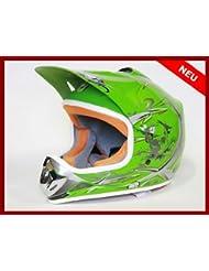 Helm Kinderhelm Motorradhelm Crosshelm Motocrosshelm Sport Grün S