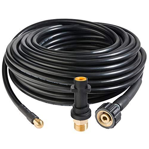 Arebos Rohrreinigungsschlauch 20 m / 180 bar/Geeignet für Hochdruckreiniger/Inklusive Adapter für Bajonett-Anschluss