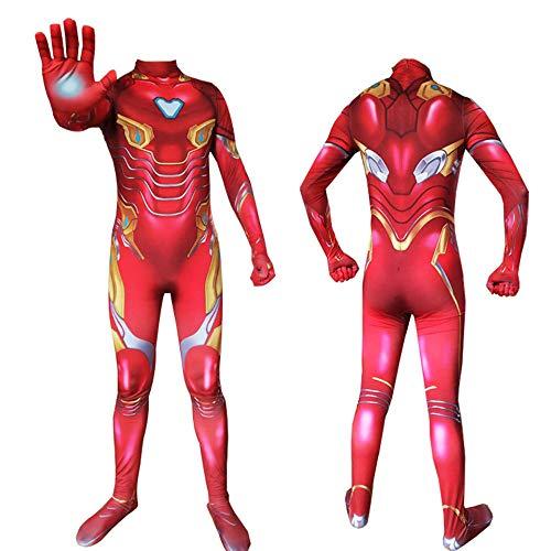 WSX Cosplay Kleidung Iron Man Cosplay Strumpfhose Avengers 4 Kleidung Anime Kostüm Kinder Erwachsene Halloween Kostüm Cosplay Kleidung,Adult-L (Man Iron Weibliche Kostüm)