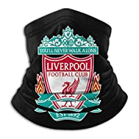 Liverpool FC, Real Madrid Soccer Team Face Mask, Windproof Mouth Cover, UV Protection Headband For Men & Women