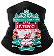 Liverpool FC, Real Madrid Soccer Team Face Mask, Windproof Mouth Cover, UV Protection Magic Scarf For Men &