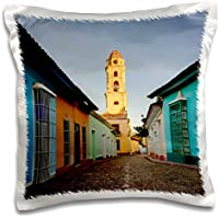 Danita Delimont - Adam Jones - Roads - Bell Tower, Plaza Mayor at sunrise, UNESCO, Trinidad, Cuba - 16x16 inch Pillow Case (pc_187006_1)