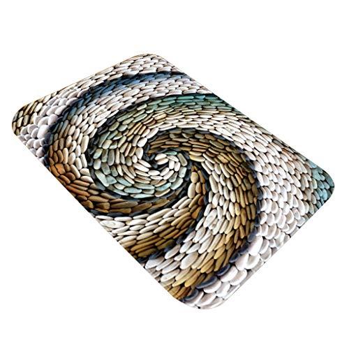 TOWAKM Boden Teppich,Teppich Flur Fußmatte Anti Rutsch Teppich absorbiert Wasser Küche Teppich (I)