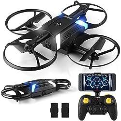 helifar Drone con cámara HD App , H816 Mini Drone con cámara de 2MP 720P Live Video 120º WiFi FPV, Gran Angular Plegable, Drone Altitude Hold, Modo Sin Cabeza,Retorno a Casa, 2 Baterías