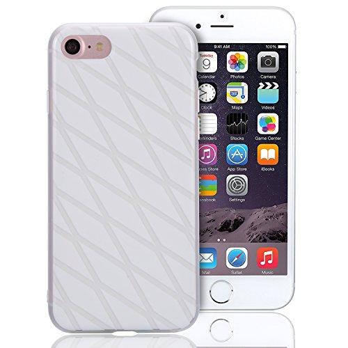 Cover per iPhone 6S, Custodia per iPhone 6, Sunroyal Creativo Cover Soft Morbida in Silicone Gel Gomma TPU Ultra Thin Slim con Bordo Protezione Fotocamera e Tappo Antipolvere per iPhone 6 6S (4.7 poll Modello 09